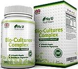 Probiotics 180 Capsules (6 Month Supply), Vegetarian Multi Strain Probiotic, High Strength Probiotic Includes Lactobacillus Acidophilus & Bifidobacterium, Capsules not Tablets by Nu U Nutrition