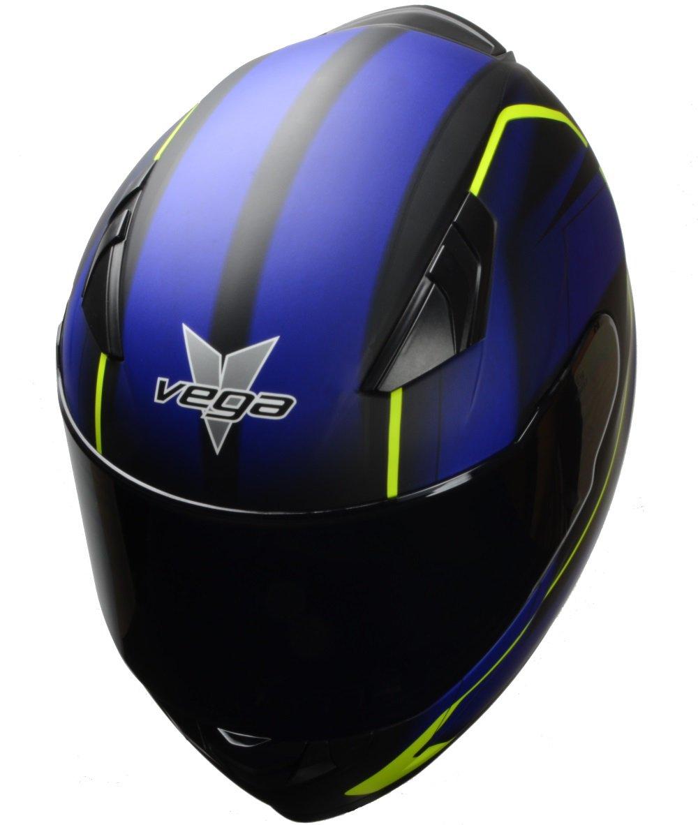 Amazon.com: Vega Helmets 60030-022 RS1 Street Sunshield Motorcycle Helmet - DOT Certified Full Facerbike Helmet for Cruisers Sports Street Bike Scooter ...