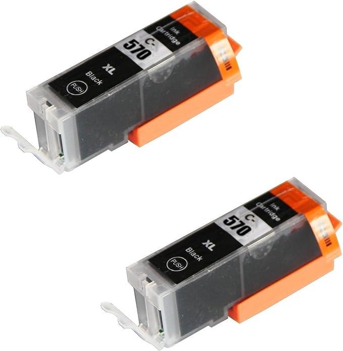 2 Schwarz Druckerpatronen Für Canon Pixma Mg5750 Mg5751 Mg6850 Mg6851 Mg7750 Ts5050 Ts6050 Mg5752 Mg5753 Mg6852 Mg6853 Ts5051 Ts5053 Ts6051 Ts6052 Kompatibel Zu Pgi 570pgbk Xl Bürobedarf Schreibwaren