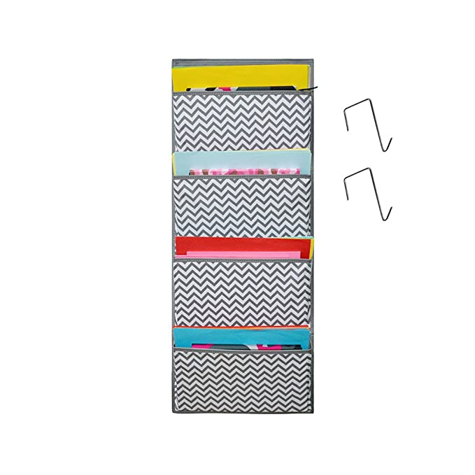 Amazon.com : Kruideey Magazine Storage Pockets,Wall Mount/Over the Door Fabric Office Supplies Storage Organizer for Notebooks, Planners, File Folders - 4 ...