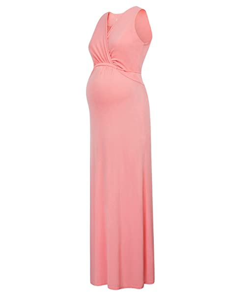 GRACE KARIN Mujer Vestido Largo Premamá de Verano Vestidos de Lactancia para Mujeres S CL736-