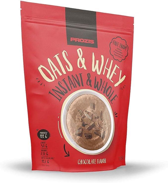 Prozis Avena integral instantánea y Proteína de suero de leche 1250 g Chocolate