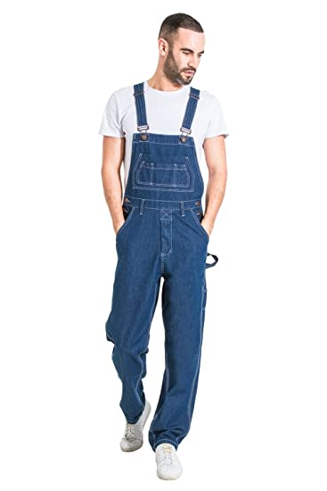 371a553b363b G8 One Mens Relaxed Fit Denim Overalls Value Bib-Overalls Dungarees ...
