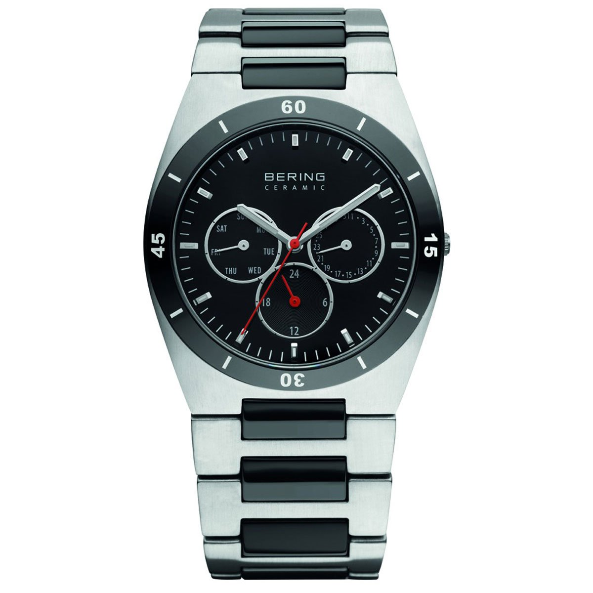 BERING Time 32341-742 Mens Ceramic Collection Watch with Stainless steel Band and scratch resistant sapphire crystal. Designed in Denmark.