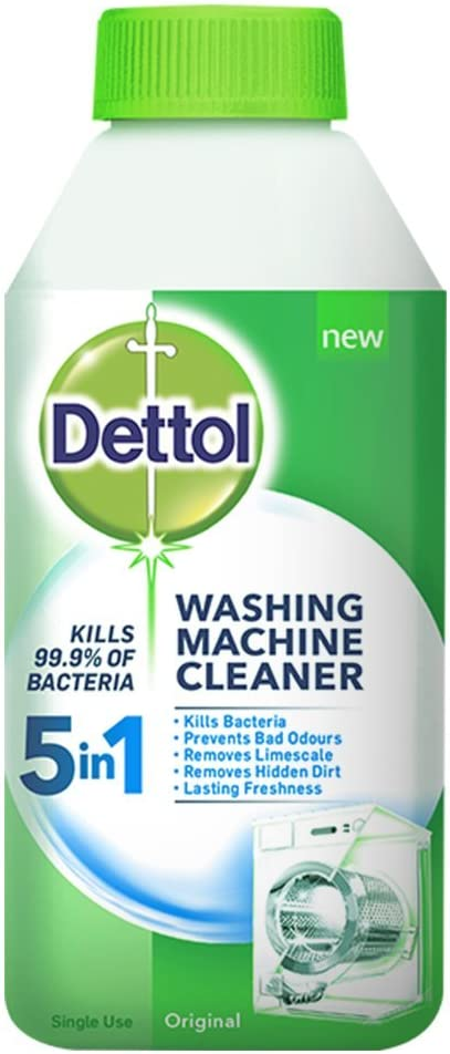 Dettol Anti Bacterial Washing Machine Cleaner, 250 ml 250 ml (Pack of 1)