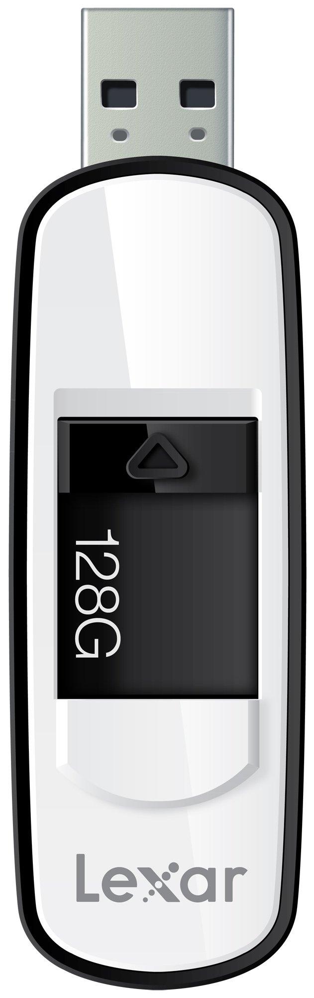 Lexar JumpDrive S75 128GB USB 3.0 Flash Drive - LJDS75-128ABNL (Black)
