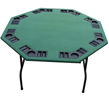 Exceptional 52u201d Green Poker Table. Black Red Burgundy Felts Available. For Texas Holdem,