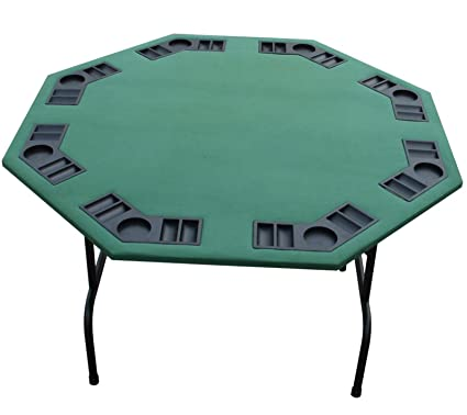 52u0026quot; U0026 XL 60u0026quot; Folding Octagon Poker Table For Texas Holdem Cards U0026  Games
