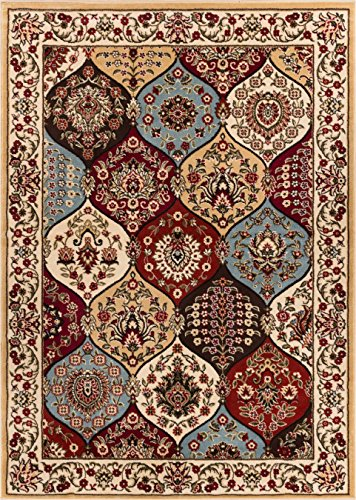 Well Woven Barclay Wentworth Panel Ivory Traditional Area Rug 3'11'' X (Panel Pattern Rug)