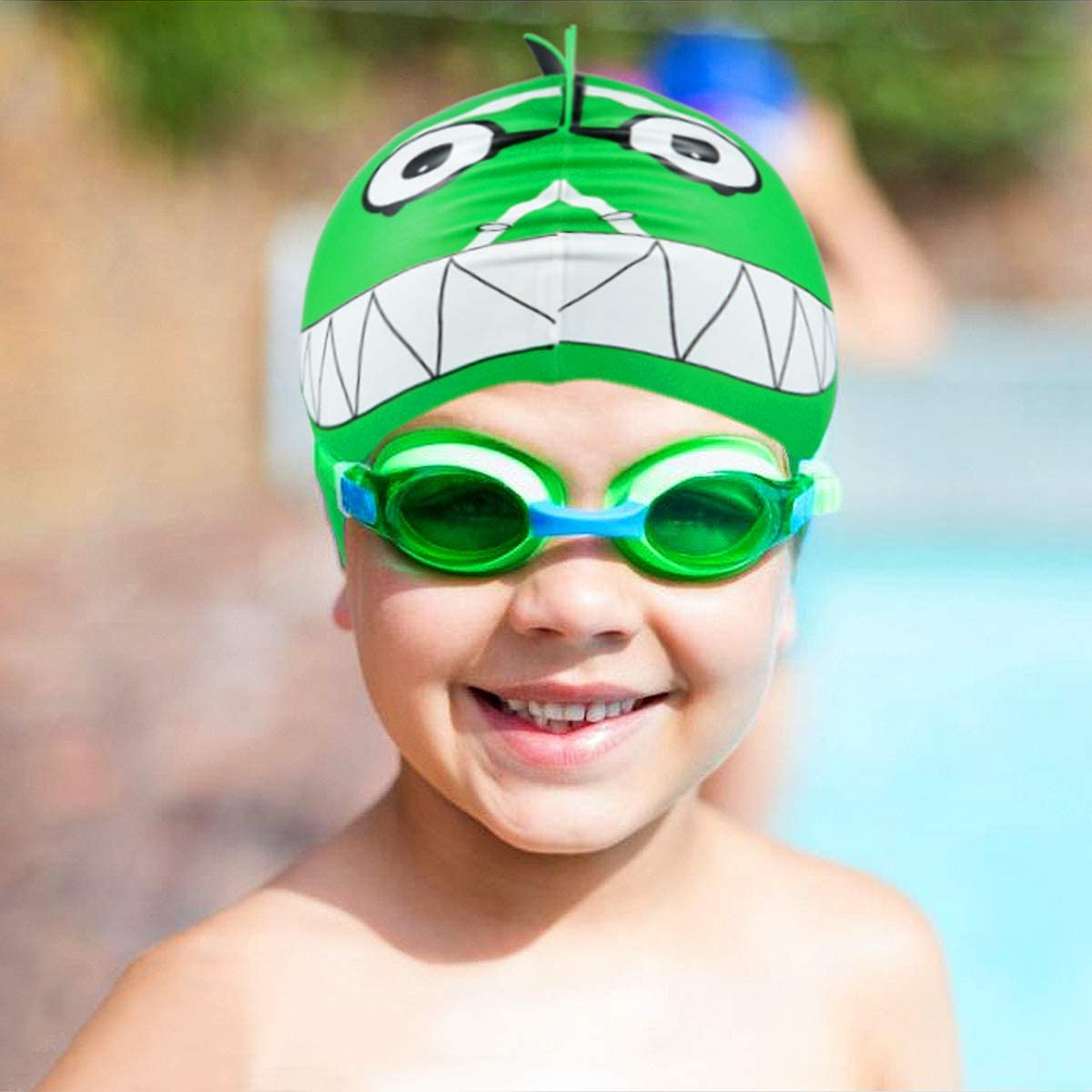 New children /& baby carton spider man silica gel swim cap boy swim cap