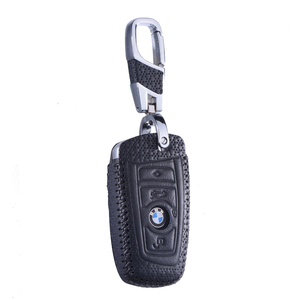 Red DKMUS for BMW 5 7 Series FOB Shell Key Chains Premium Quality Handmade Leather Key Cover for BMW F05 F10 F20 F30 Z4 X1 X2 X3 X4 M1 M3 e30 e36 e90 e60 e84 e39 e46 e90 e63 e53