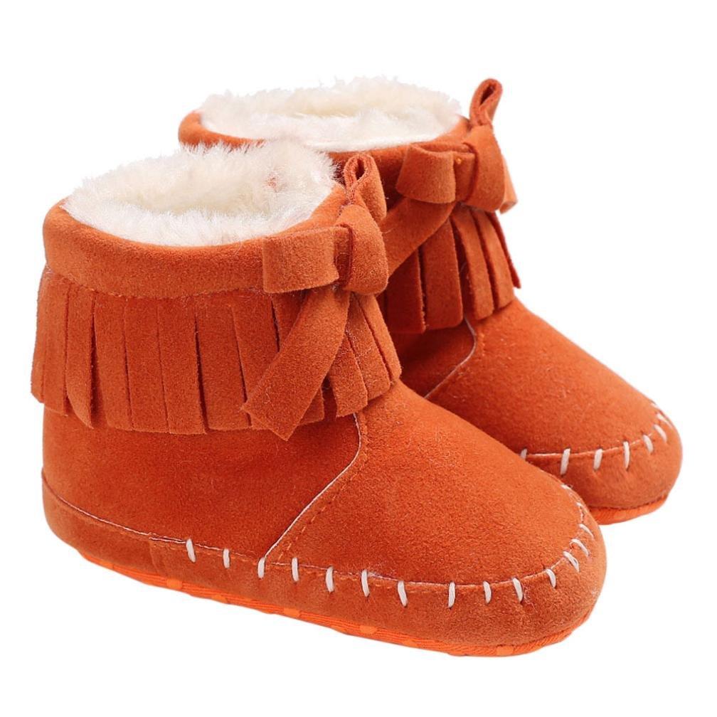 980d7e5702acc LONUPAZZ Fashion Hiver Bébé Fille Booties Bottes De Neige Chaussures ...