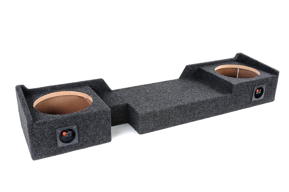 Bbox A372-10CP Dual 10'' Sealed Carpeted Subwoofer Enclosure - Fits 2004 - 2008 Ford F150 Super Crew / Super Cab by Atrend