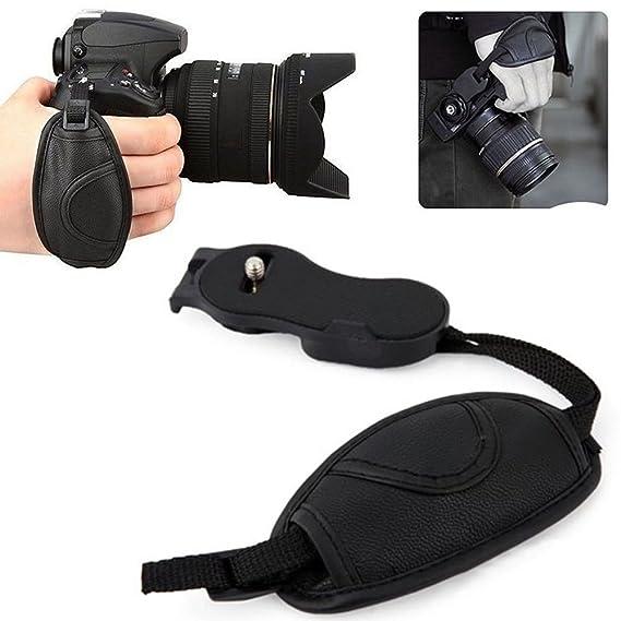 Ozure Tripod Screw Leather Hand Grip Strap for All Brands SLR/DSLR Camera Wrist Strap   3 Month Warranty Camera   Photo Accessories