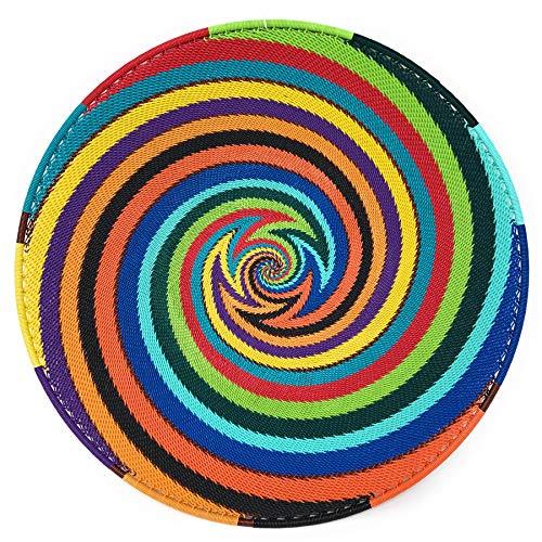 - Fair Trade Zulu Telephone Wire 12-inch Platter Basket, African Spirit