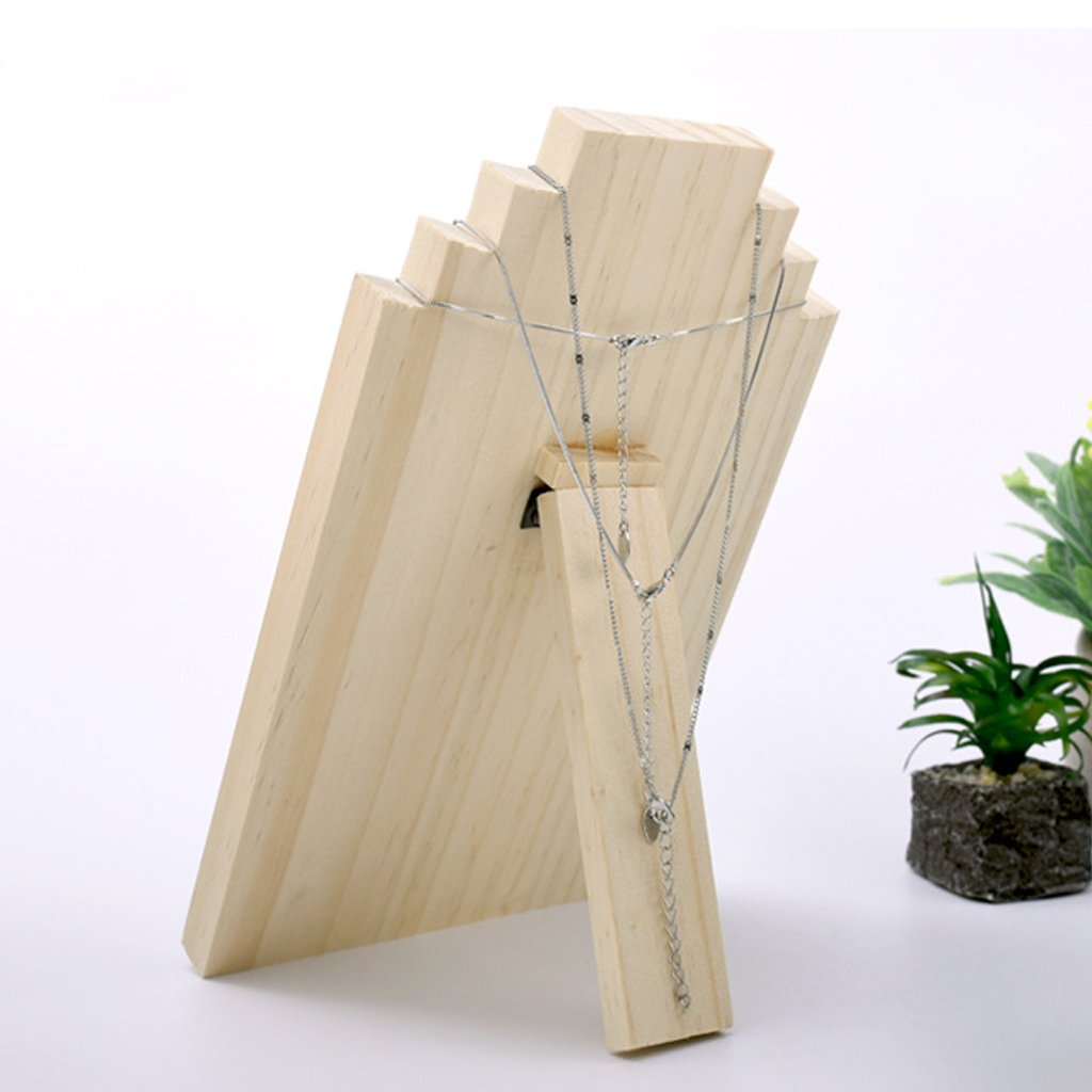 Dovewill Unfinished Wood Wooden Display Stands Necklace Holder Jewelry Display Board Rack 3 Sizes - Small by Dovewill (Image #4)