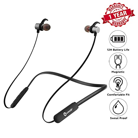 64f584f8524 Woozik Flex Bluetooth Neckband Headphones, Around The Neck Wireless Earbuds,  Collar Magnetic Headset,