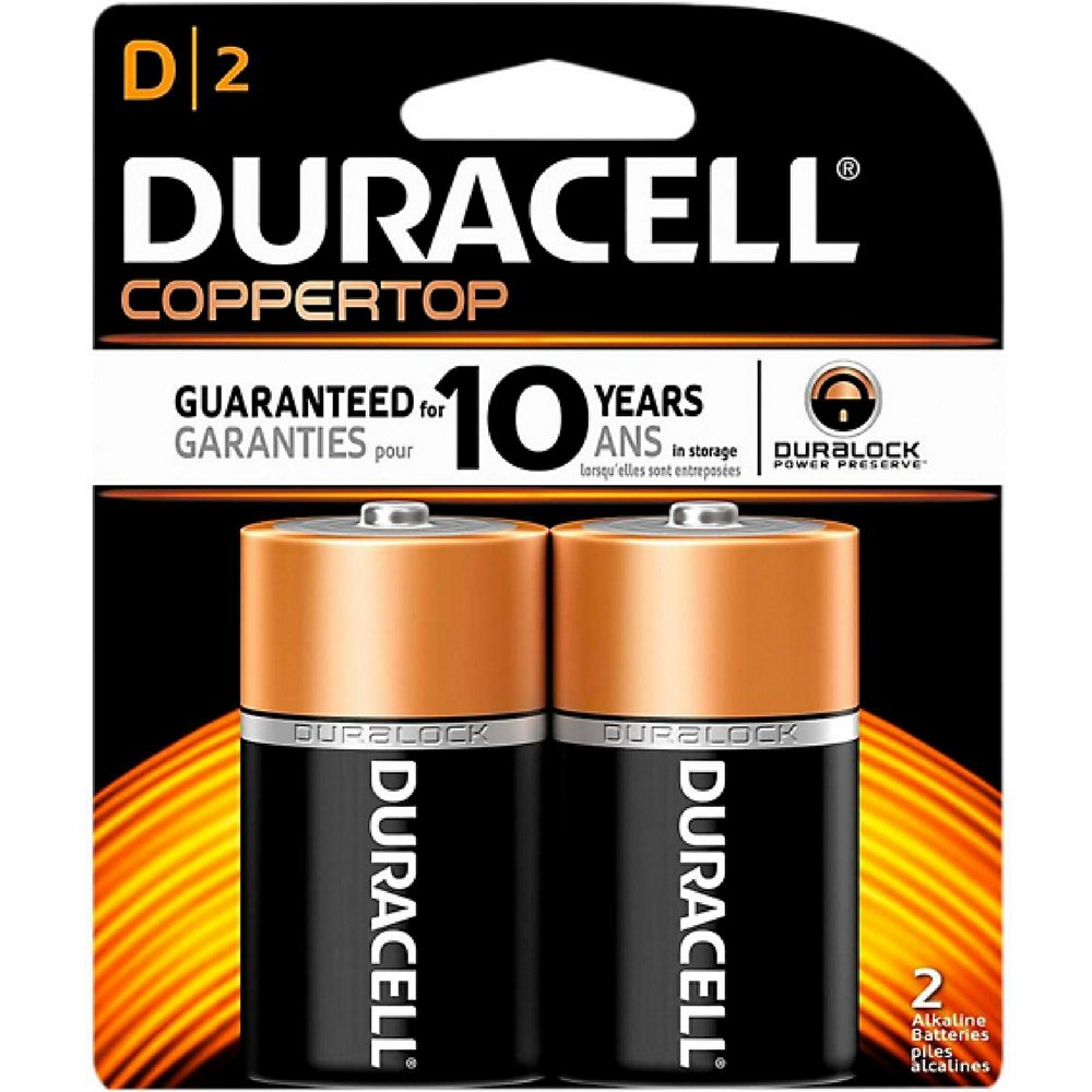 Duracell Coppertop D Alkaline Batteries 2 Each (Pack of 8) by Duracell