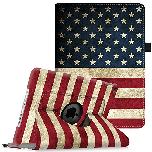 (Fintie iPad Air 2 Case (2014 Release) - 360 Degree Rotating Stand Protective Case Smart Cover with Auto Sleep / Wake Feature for Apple iPad Air 2, US)