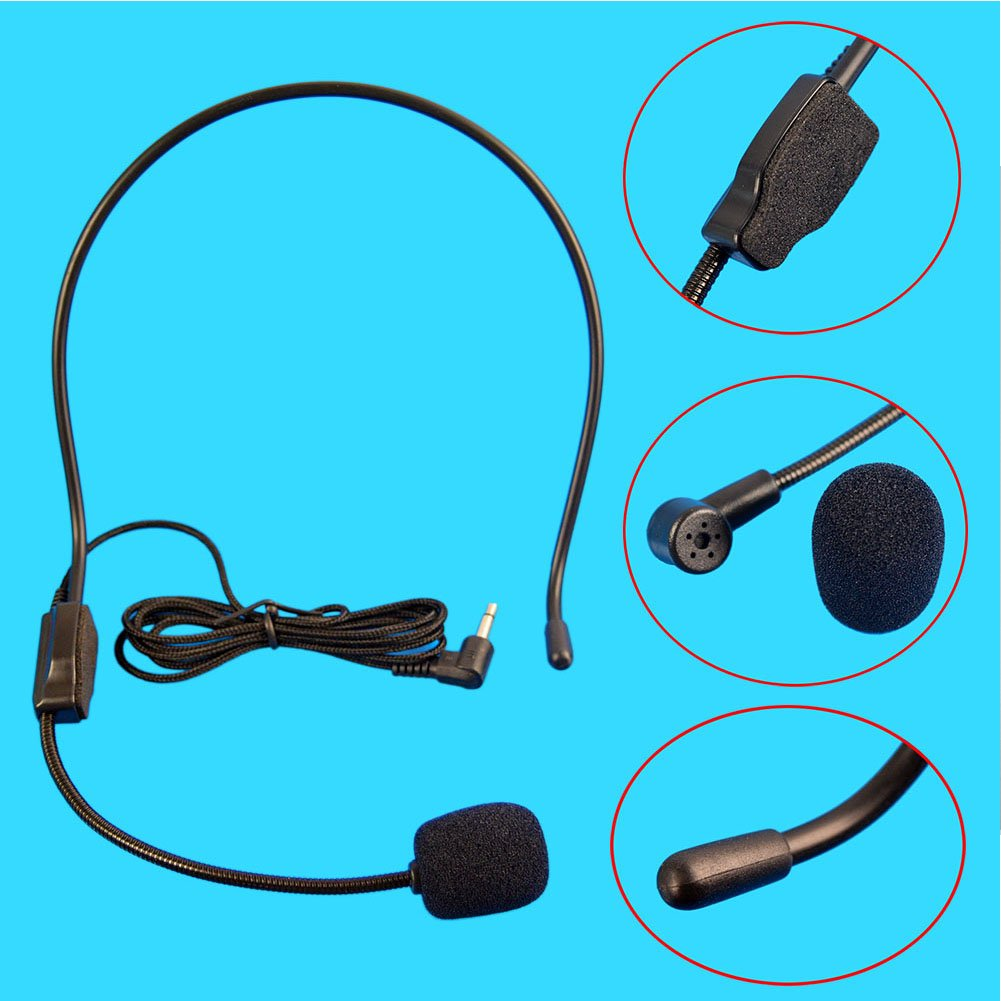Vbestlife Mini 35mm Head Wired Headset With Microphone Condenser Mic Amplifier For Voice Speaker Zerone