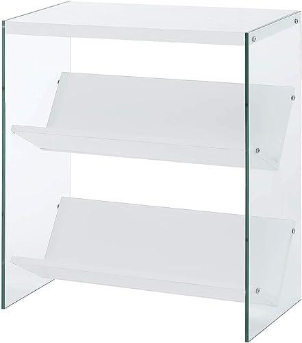 Convenience Concepts Soho Bookcase, White Glass