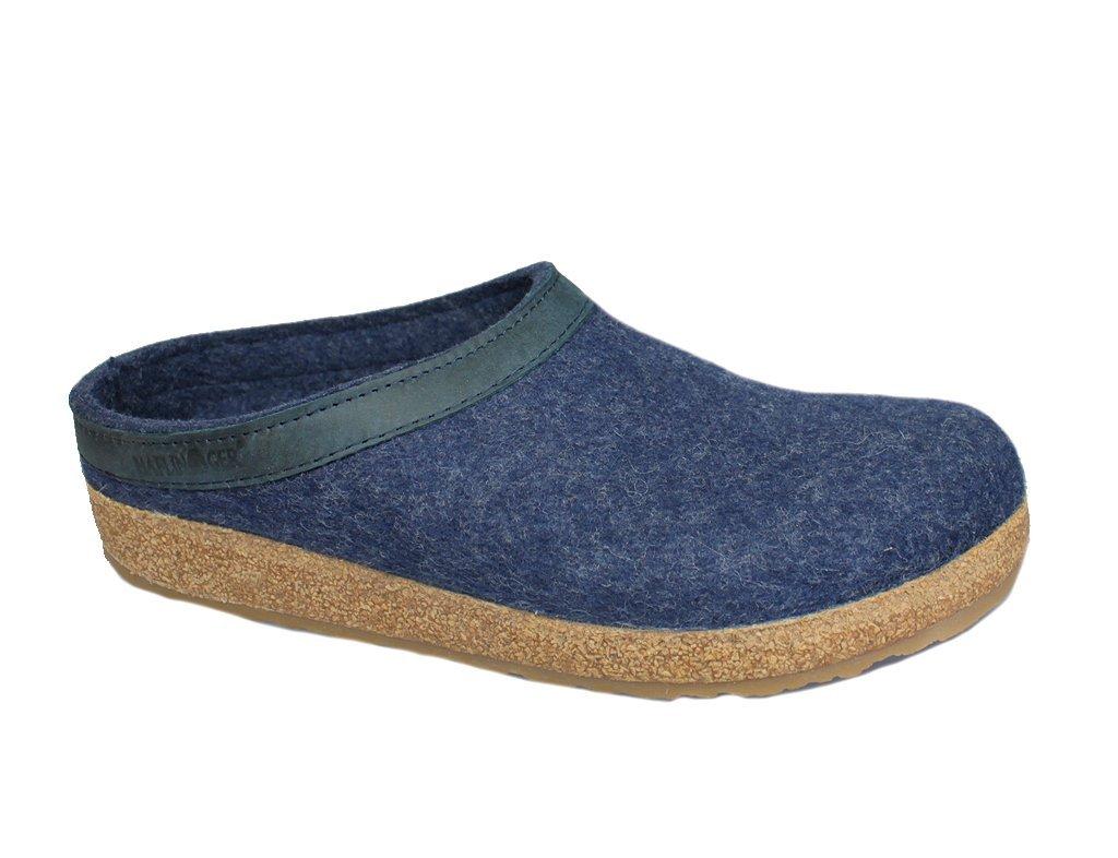 Haflinger 713001 Slippers, Filztoffel Grizzly Torben, Jeans, Gr 50 by Haflinger (Image #8)