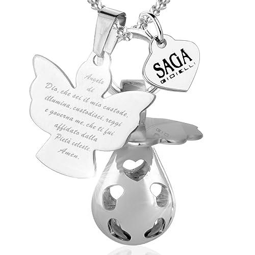 Saga Gioielli - Collar llamador de ángeles, cascabel ...