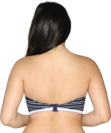 Curvy Kate Sailor Girl Bandeau Bikini Navy Stripe 34GG