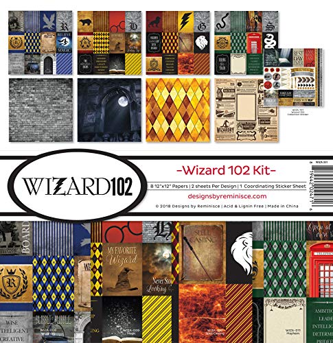 Reminisce (REMBC) WIZA-201 Wizard 102 Scrapbook Collection Kit 12-x-12-Inch Multi Color Palette -