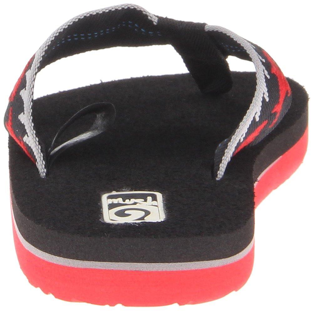 Size 9 New Toddler Boys Black /& Red Teva Mush II Flip Flops