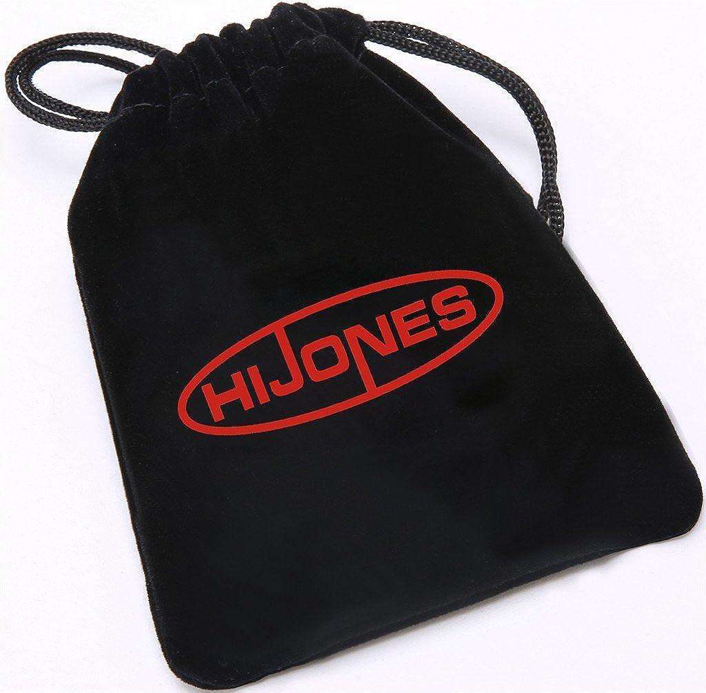 HIJONES Hommes 8MM Carbone Fibre Incruster Tungst/ène Carbure Bague Noir et Bleu