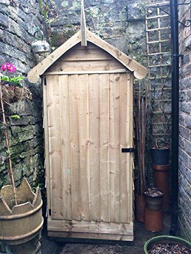 Decorativo Pequeño cobertizo de madera, unidad de almacenamiento exterior, hecho a mano con madera
