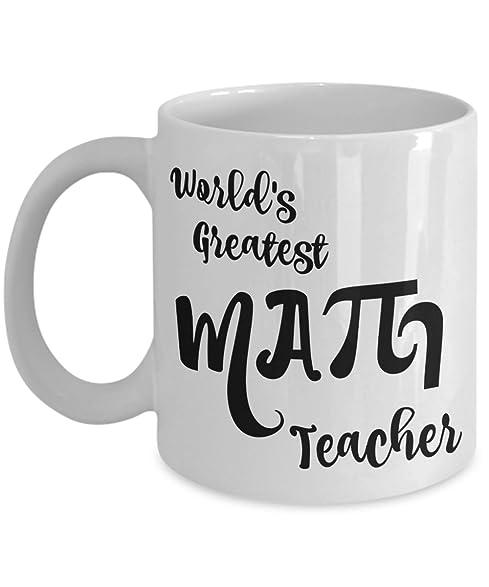 Amazon.com: Math Teacher Mug Gifts - Teacher Appreciation Gift - Men ...