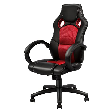 Superb Giantex Gaming Chair Racing Chair High Back Bucket Seat Swivel Executive Office Computer Task Desk Gaming Chair Red Ocoug Best Dining Table And Chair Ideas Images Ocougorg
