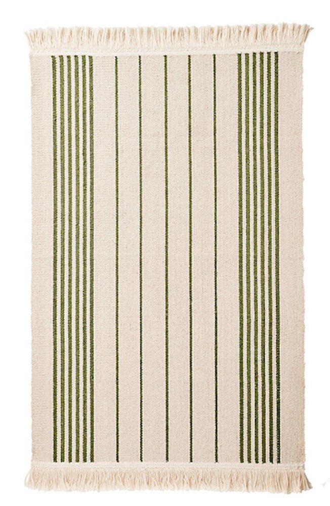 Amazon.com: Ikea Flatwoven Area Kitchen Rug Stripes Cotton Green Throw Mat:  Kitchen U0026 Dining