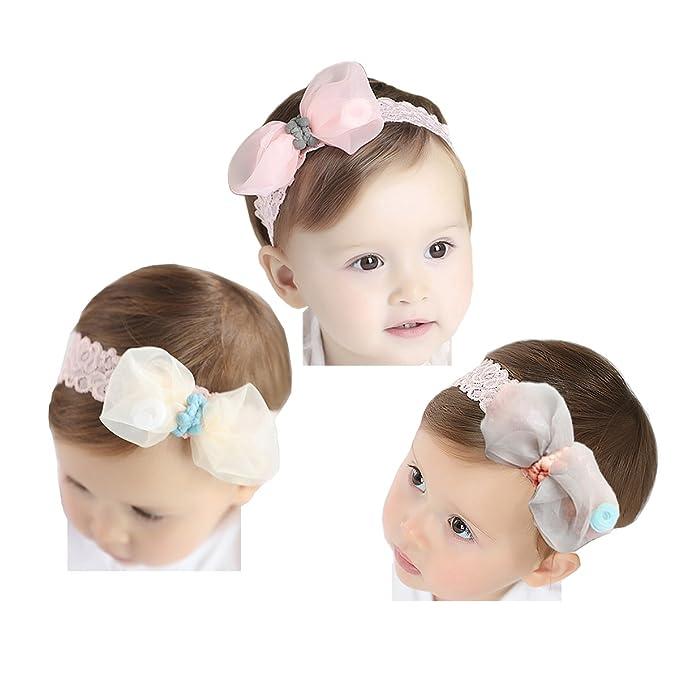 Jolieer Fascia Capelli Cerchietti e Fasce per Capelli Bambina Neonata  Accessori fiore fasce (C - 32eb4a8444f5