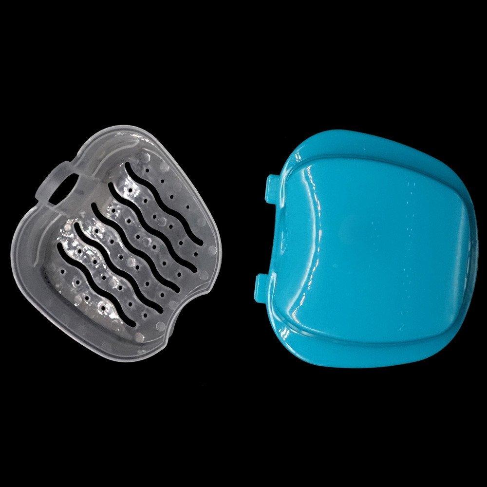 Huhua Bo/îte de rangement pour cabinet de bain de dentition avec fausse dent dentaire avec r/écipient en filet suspendu