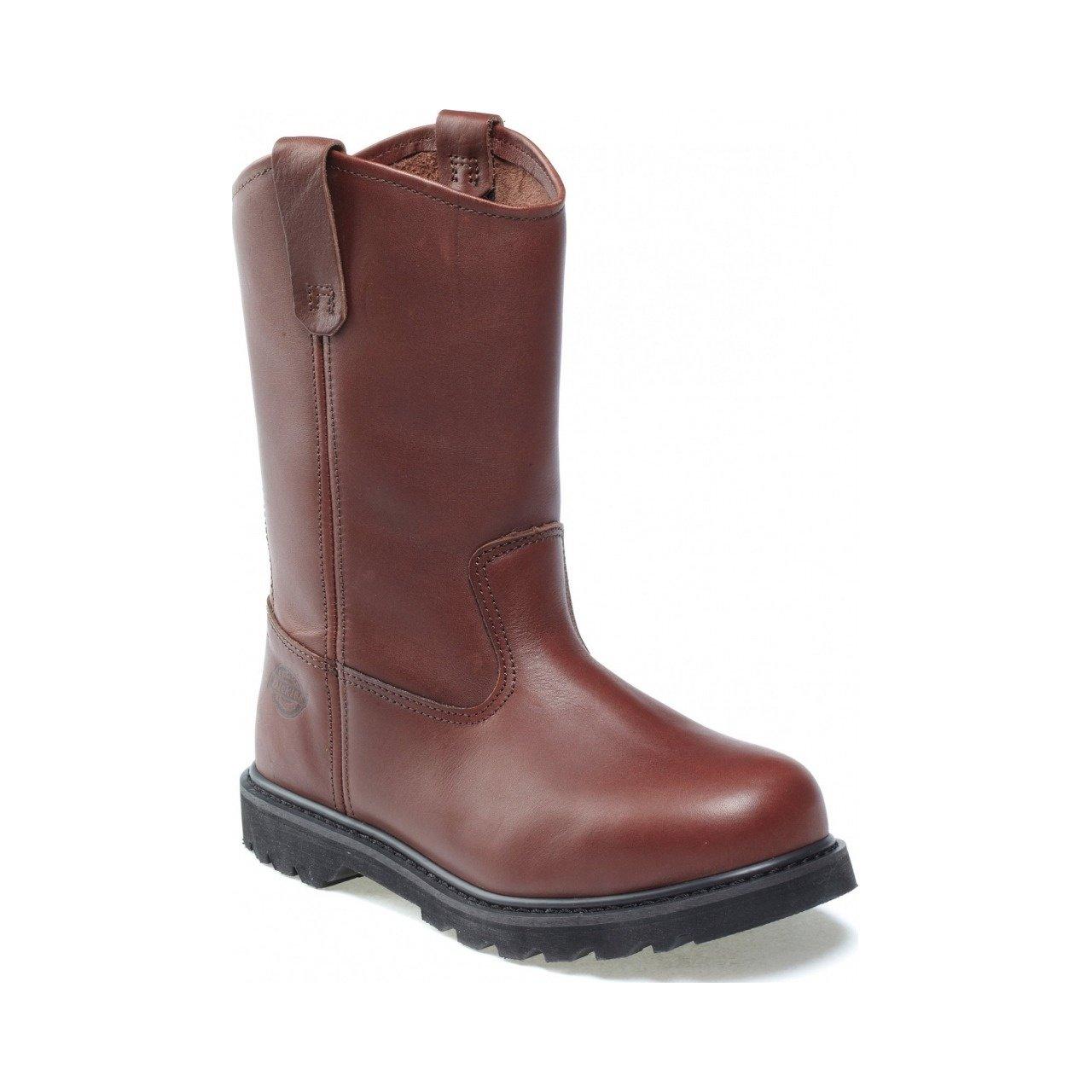 Dickies - Botas de cuero para mujer marrón marrón 35.5 8,5 UK