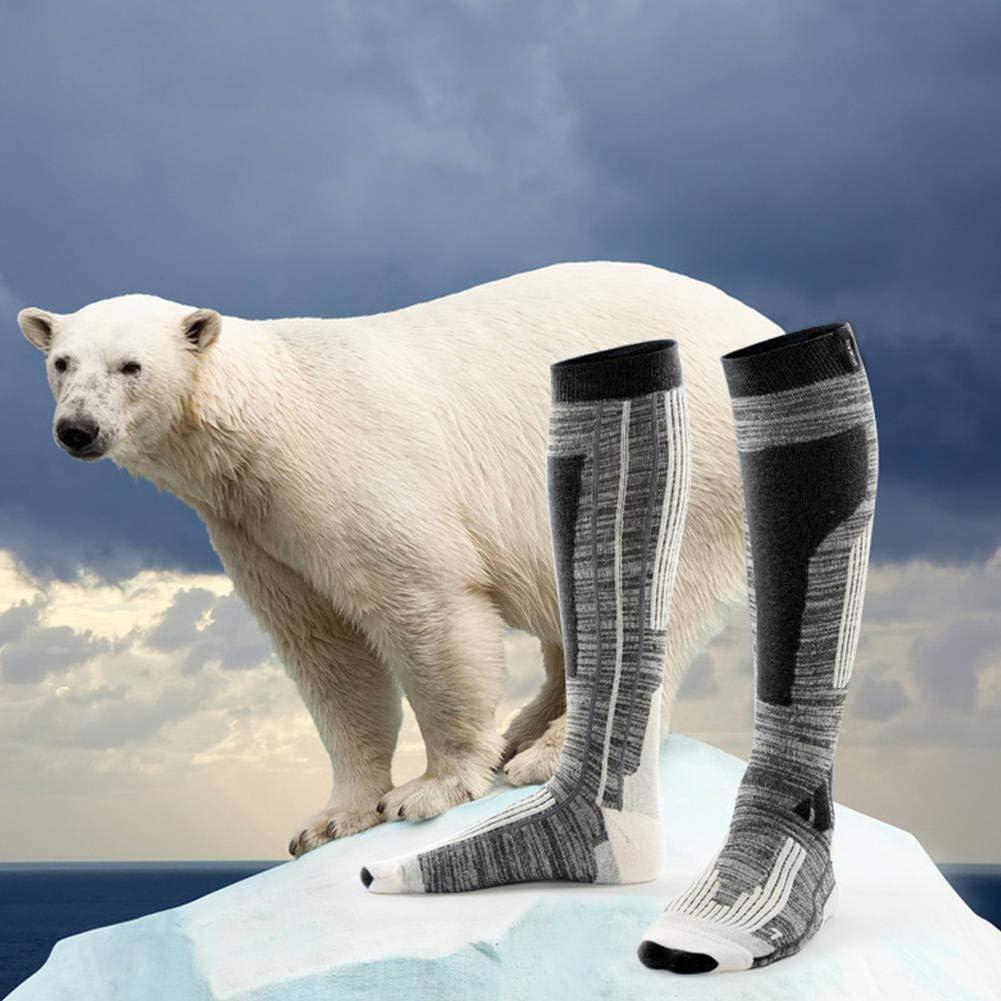 HOLEBAY-EU Professional Wool Ski Socks For Men And Women High Socks Sports Socks Silk Wool Thickening Terry Socks Gift