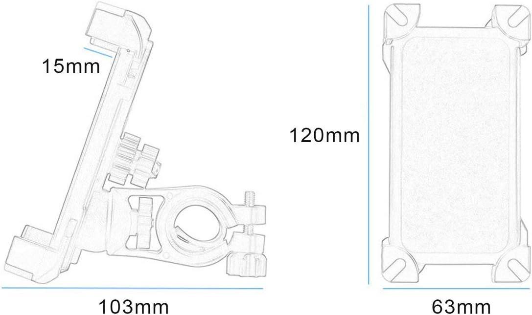 Support de t/él/éphone Portable Moto v/élo v/élo Guidon Montage Titulaire Type de Clip r/églable Support mont/é 360 degr/és Rotatif
