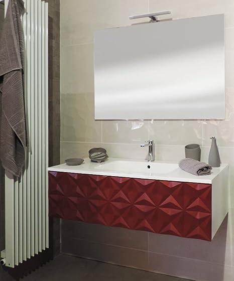 Arredo Bagno Moderno Rosso.Mobile Bagno Sospeso Moderno Rosso Cm105 Decorato