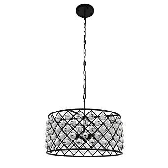 Glass Drum Chandelier 6 Lights ? Crystal Glass Chandelier round crystal chandelier pendant lighting fixture Crystal  sc 1 st  Amazon.com & Glass Drum Chandelier 6 Lights ? Crystal Glass Chandelier round ...