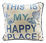 Beachcombers This Is My Happy Place Throw Pillow, Multi, 12 x 12 inches