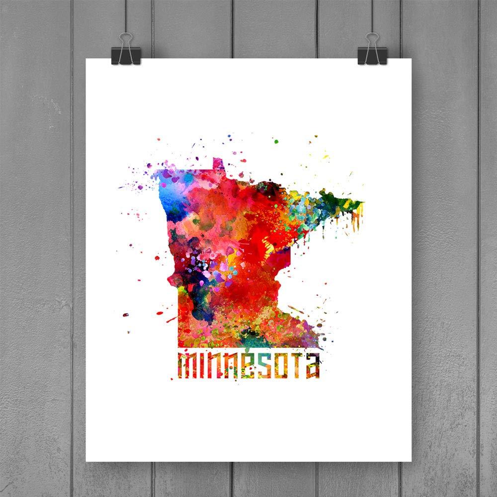 Minnesota Wall Decor Minnesota Wall Art Minnesota Watercolor Minnesota Decor Minnesota Painting Minnesota Home Minnesota Print