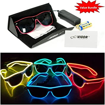 Amazon.com: VIGOR - Juego de gafas LED para fiestas, clubes ...