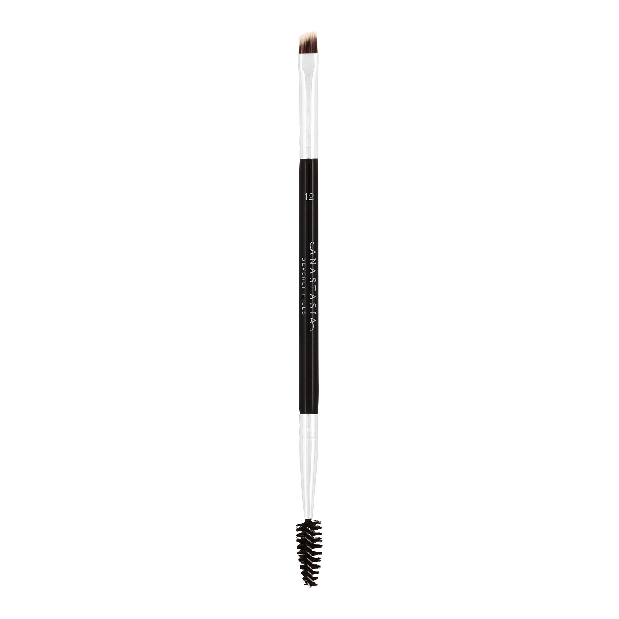 Anastasia Beverly Hills Duo Brush #12. Dual-Ended Firm Angled  Eyebrow Brush with Spooley. (Synthetic Bristles)