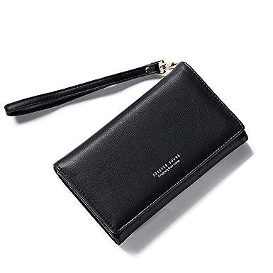 acd8cafd68e0 Amazon.co.jp: 長財布 レディース 財布 人気 大容量 多機能 二つ折り PU ...