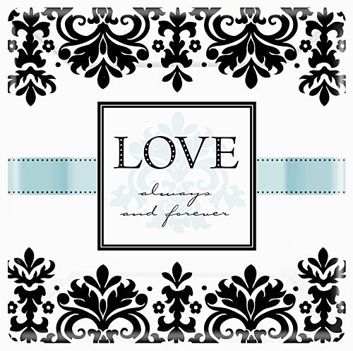Love Always & Forever Square Dinner Plates | Wedding and Engagement Party -