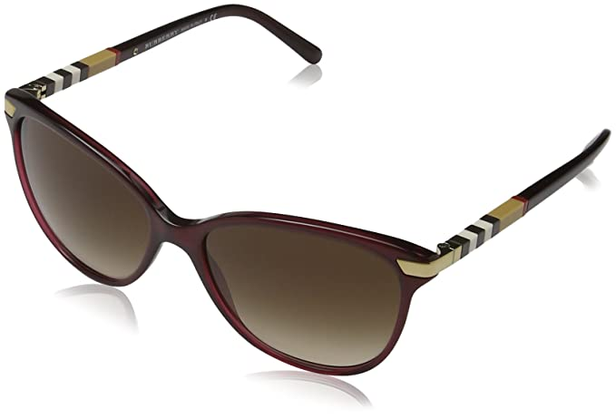 090cdb277 Burberry Women's Gradient BE4216-301413-57 Red Butterfly Sunglasses:  Burberry: Amazon.ca: Clothing & Accessories