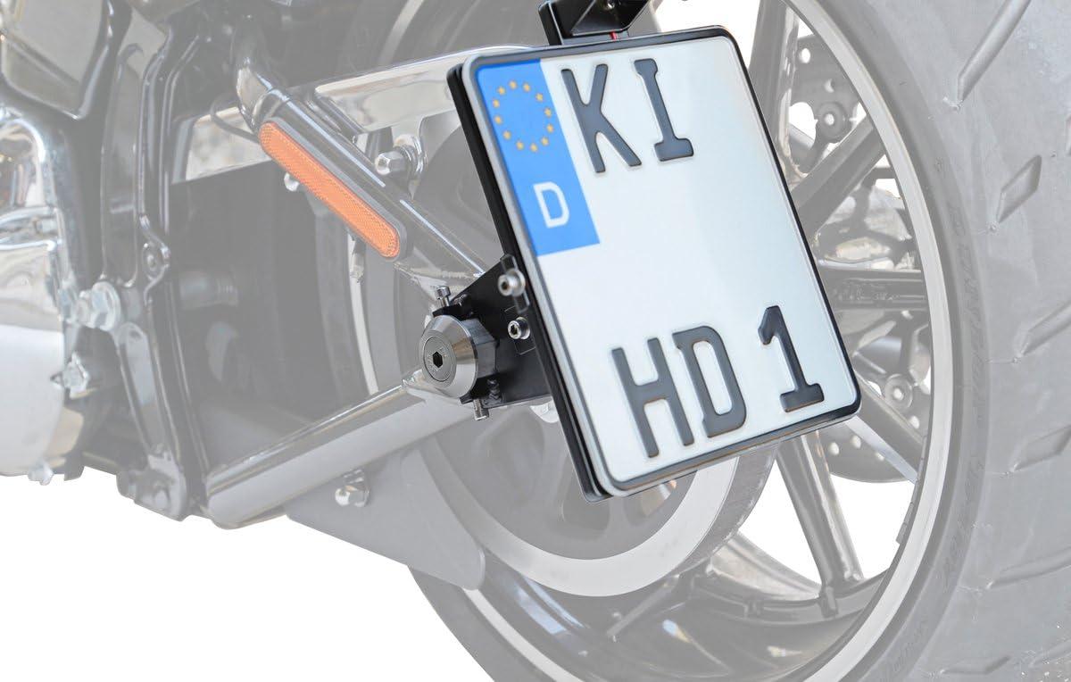 T/ÜV-Teilegutachten BUFFALO BAG Seitlicher Kennzeichenhalter 180x200 mm inkl LED-Kennzeichenbeleuchtung und Montagematerial